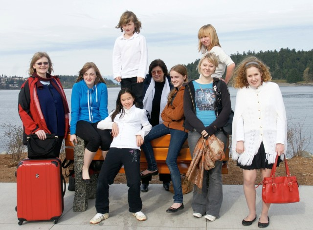 The Youth Choir on their way to Nanaimo, Easter 2010
